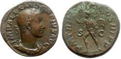 Ancient Coins - Severus Alexander (222-235). Æ Sestertius - Rome - R/ Sol