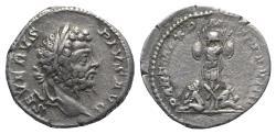 Ancient Coins - Septimius Severus (193-211). AR Denarius. Rome, AD 202.  R/ Trophy