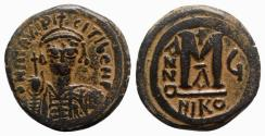 Ancient Coins - Maurice Tiberius (582-602). Æ 40 Nummi - Nicomedia, year 6