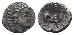 Ancient Coins - Celtic. Southern Gaul. Insubres, 2nd century BC. AR Drachm. Imitating Massalia. EXTREMELY FINE