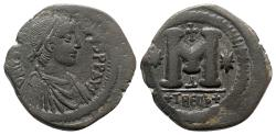 Ancient Coins - Justinian I (527-565). Æ 40 Nummi - Theoupolis (Antioch)