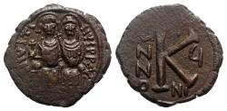 Ancient Coins - Justin II and Sophia (565-578). Æ 20 Nummi - Nicomedia