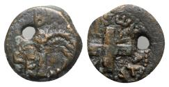 Ancient Coins - Judaea, Procurators. Antonius Felix (52-59 CE). Æ Prutah