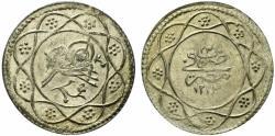 World Coins - Egypt, Ottomans. Qirsh. AH 1223, year 23