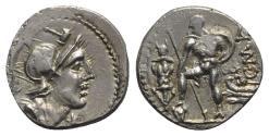 Ancient Coins - Roman Republic - C. Malleolus C.f., Rome, 118 BC. AR Denarius