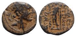 Ancient Coins - Seleukid Kings, Antiochos IV Epiphanes (175-164 BC). Æ - R/ Zeus