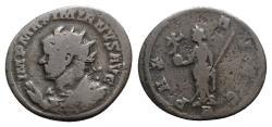 Ancient Coins - Maximianus (286-305). Radiate / Antoninianus - Lugdunum - R/ Pax - Rare bust type