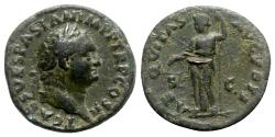 Ancient Coins - Titus (Caesar, 69-79). Æ As - Rome - R/ Aequitas