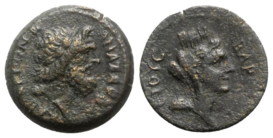 Ancient Coins - Cilicia, Anazarbos, c. 1st-2nd century AD. Æ - Zeus / Tyche