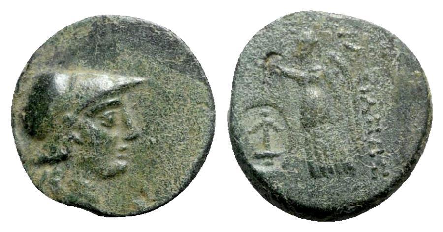 Ancient Coins - Seleukid Kings, Antiochos III (222-187 BC). Æ - Athena / Nike