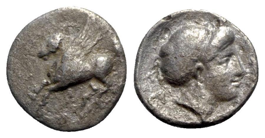 Ancient Coins - Corinth, c. 350-300 BC. AR Drachm