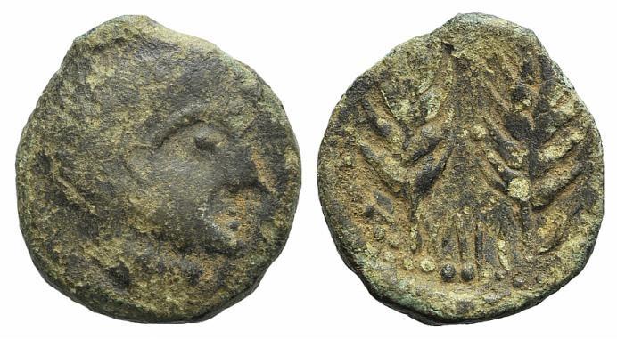 Ancient Coins - Mauretania, Tingi, c. 50-1 BC. AE 17mm RARE