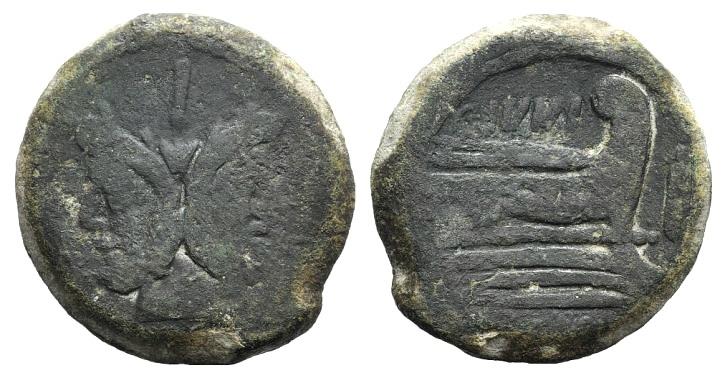 Ancient Coins - Rome Republic C. Junius C.f., Rome, 149 BC. AE As