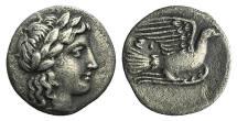 Ancient Coins - SIKYONIA, Sikyon. Circa 350-330/20 BC. AR Obol NICE !!