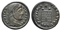 Ancient Coins - Constantine I (307/310-337). Æ Follis. Nicomedia, 328-9. R/ Camp-gate