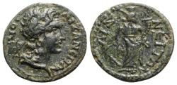 Ancient Coins - Phrygia, Aezanis. Pseudo-autonomous, time of Gallienus (260-268). Æ - Demos / Tyche