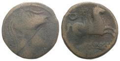 Ancient Coins - Spain, Emporion as Untikesken, c. 100-50 BC. Æ As R/ PEGASOS