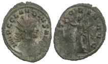 Ancient Coins - Claudius II (268-270). Radiate. Rome, 268-9.  R/ Victory