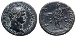 Ancient Coins - Domitian (Caesar, 69-81). Æ Sestertius - Rome - R/ Pax