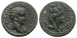 Ancient Coins - Gordian III (238-244). Mesopotamia, Singara. Æ - R/ Tyche