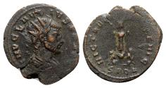 Ancient Coins - Claudius II (268-270). Radiate - Cyzicus - R/ Trophy with captives