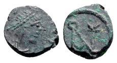 Ancient Coins - Anastasius I (491-518). Æ Nummus. Constantinople, 491-498. R/ Monogram of Anastasius