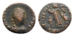 Ancient Coins - Valentinian II (375-392). Æ - R/ Victory