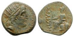 Ancient Coins - Cilicia, Soloi, c. 100-30 BC. Æ - Helios(?) / Athena