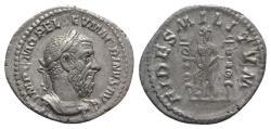 Ancient Coins - Macrinus. AD 217-218. AR Denarius. Rome mint. R/ FIDES