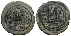 Ancient Coins - Justinian I (527-565). Æ 40 Nummi - Constantinople, year 16