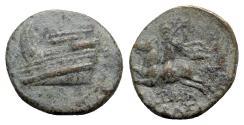Ancient Coins - Uncertain mint, c. 3rd-2nd century BC. Æ - Prow / Horseman