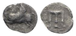 Ancient Coins - Bruttium, Kroton, c. 430-420 BC. AR Triobol