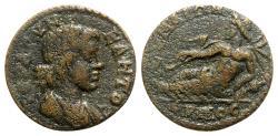Ancient Coins - Aeolis, Cyme. Pseudo-autonomous issue, time of Gordian III (238-244). Æ - Senate / Hermos
