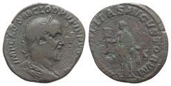 Ancient Coins - Pupienus (AD 238). Æ Sestertius. Rome. R/ Liberalitas
