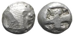Ancient Coins - Caria, Mylasa(?), c. 520-490 BC. AR Stater. Forepart of lion