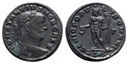 Ancient Coins - Constantius I (Caesar, 293-305). Æ Follis - Siscia - R/ Genius