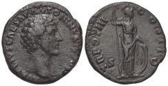 Ancient Coins - Marcus Aurelius (Caesar, 139-161). Æ As. Rome, 148-9. R/ Minerva