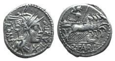 Ancient Coins - Rome Republic. Q. Fabius Labeo, Rome, 124 BC. AR Denarius