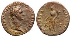 Ancient Coins - Domitian (81-96). Æ As - R/ Moneta