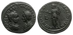 Ancient Coins - Severus Alexander and Julia Mamaea (222-235). Moesia Inferior, Marcianopolis. Æ Assaria  - R/ Hera