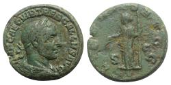 Ancient Coins - Trebonianus Gallus (251-253). Æ As. R/ Libertas