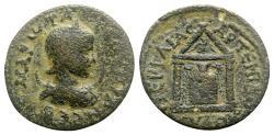 Ancient Coins - Otacilia Severa (Augusta, 244-249). Pamphylia, Perge. Æ - R/ Artemis Pergaia