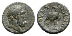 Ancient Coins - Lydia, Thyatira. Pseudo-autonomous issue, time of Septimius Severus (193-211). Æ - Herakles / Eagle