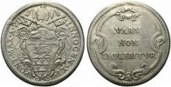 World Coins - Italy, Papal State, Innocenzo XI (1676-1689). AR 1/2 Piastra A VII (1682-83)