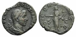 Ancient Coins - Volusian. 251-253 A.D. Æ Sestertius R/ CONCORDIA