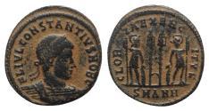Ancient Coins - Constantius II (Caesar, 324-337). Æ Follis. Antioch, 330-5.