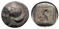 Ancient Coins - Troas, Assos, c. 4th century BC. AR Hemiobol