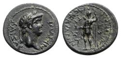 Ancient Coins - Nero (54-68). Lydia, Maeonia. Æ - Menekrates, magistrate - R/ Men