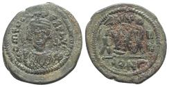 Ancient Coins - Phocas (602-610). Æ 40 Nummi - Follis. Constantinople, year 7 (608/9).  R/ Large XXXX