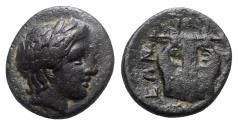 Ancient Coins - Macedon, Chalkidean League, Olynthos, c. 360-348 BC. Æ